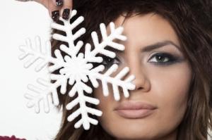 Woman with snowflake freedigitalphotos-net